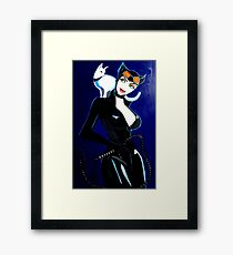 SUPER HERO  CAT WOMAN Framed Print