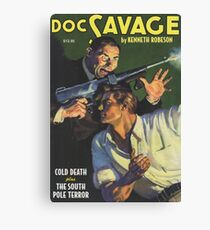 Doc Savage Cold Death Canvas Print