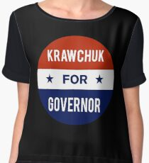 Ken Krawchuk For Governor of Pennsylvania Chiffon Top