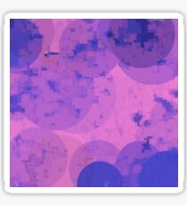 geometric circle and square pattern abstract in pink purple Sticker
