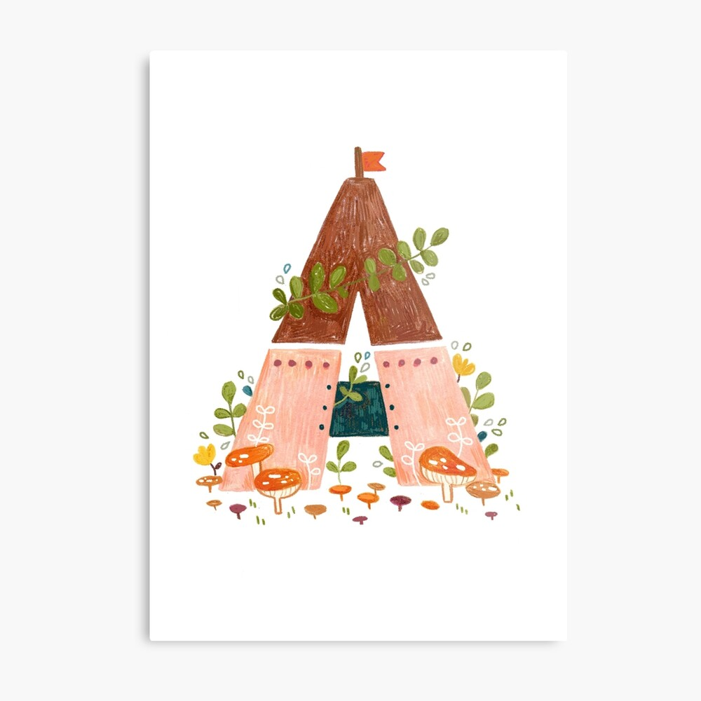 A is for Abode Metal Print