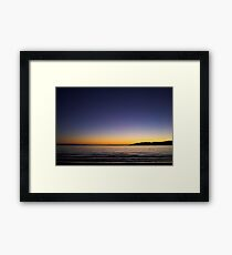Sunset Over Kapiti Island Framed Print