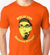 HOLA YOU AMAZING ARTISTS Rafi Perez Youtube Slim Fit T-Shirt