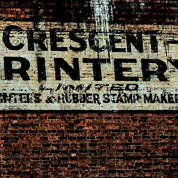 Crescent Printery Signage by JoBling