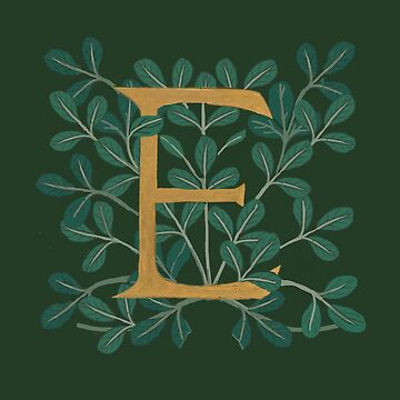 Forest Letter E 2018 by Donnahuntriss