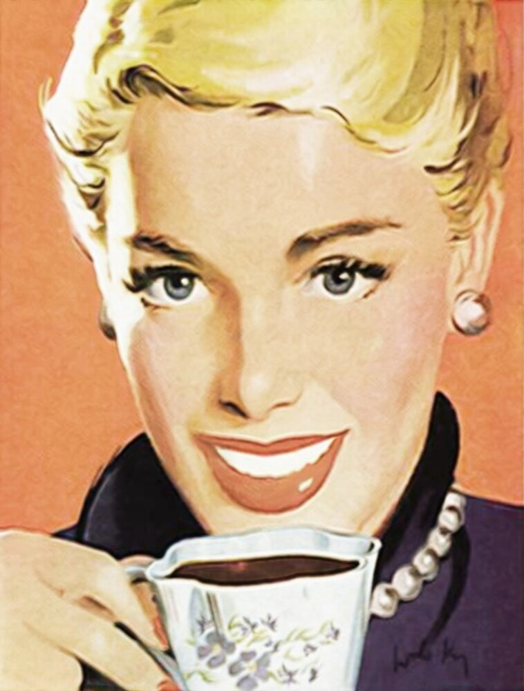 Vintage poster - Coffee by mosfunky