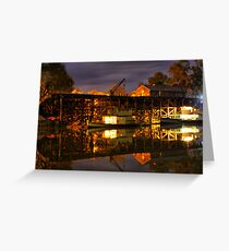 Echuca at night Greeting Card