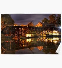 Echuca at night Poster