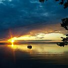 Golden Sunset Reflected by Linda Bianic