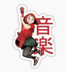 ochako uraraka guitarist big Sticker