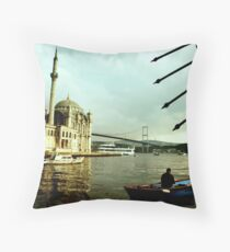 Ortakoy & the Fisherman Throw Pillow