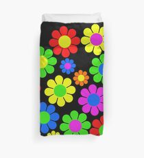 Hippy Flower Daisy Spring Pattern Duvet Cover