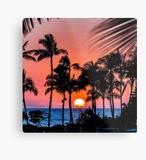 Oahu Sonnenuntergang Metalldruck