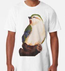 grüner Vogel. Longshirt
