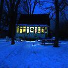 Wyandot Winter Evening, Toronto Island by Baye Hunter