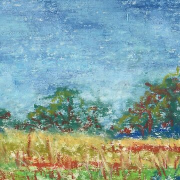 Spring Field (pastel) by nikihilsabeck