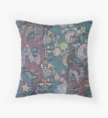 Dragons and more Throw Pillow