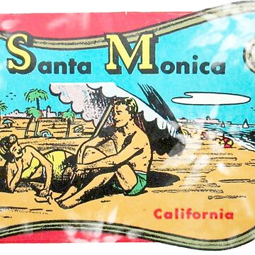 Santa Monica California Vintage Travel Decal by hilda74