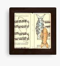 Fish above fingering Canvas Print