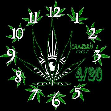 Tick Tock 420 Clock by OasisGold