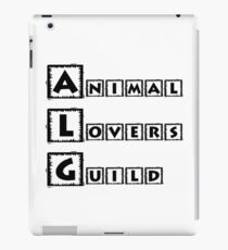 animal lovers guild iPad Case/Skin