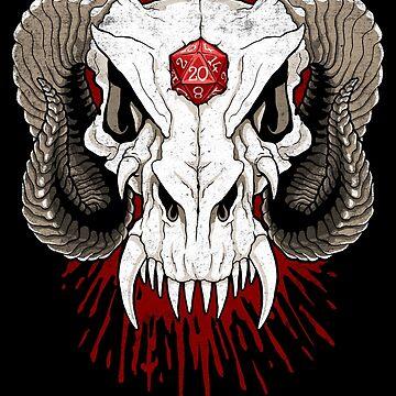 Dragon Skull D20 by MaratusFunk