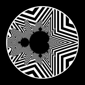 Monochrome Mandelbrot 004 by rupertrussell