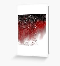 Abstract Art in Red, Black, and White Greeting Card