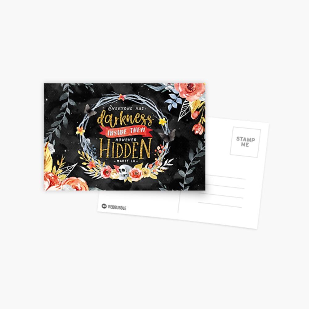 Darkness Hidden Postcard
