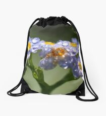 Forget-Me-Not with Tears Drawstring Bag