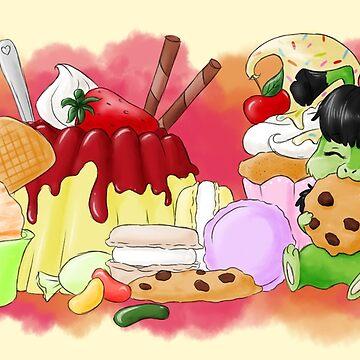 Miharu - Candy Wonderland by RoxysArtShop