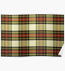 Scottish tartan Poster