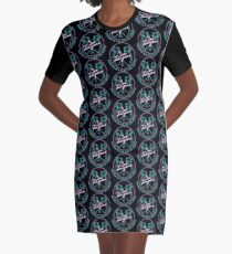 """San Junipero """"Heaven Is a Place on Earth"""" Graphic T-Shirt Dress"""