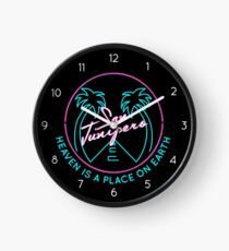 """San Junipero """"Heaven Is a Place on Earth"""" Clock"""