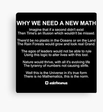 Why We Need A New Math Canvas Print