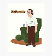 F is for Family Art Print