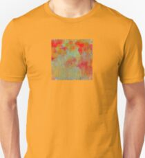 Flowers in Red and Gold T-Shirt