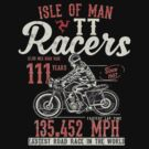 Isle Of Man TT T-Shirt Top Speed 3 Legs Flag by thespottydogg