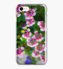 flowering garden. Red, white and pink blooming flowers iPhone Case/Skin