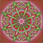 Red and Green Mandala painting by Anastasia Helten