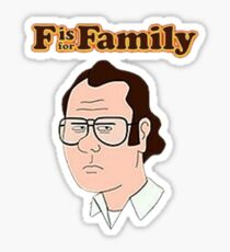 F is for Family Sticker