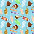 Aussie Ice Creams Pattern - Blue by Hacklock