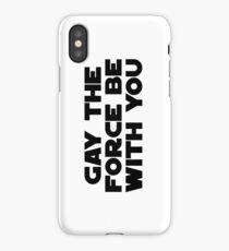 Gay the Force (black, bold) iPhone Case