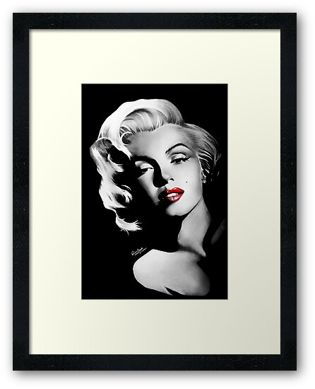 Láminas enmarcadas «Marilyn Monroe» de MrYorkie | Redbubble