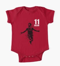 SPORTS ART #SALAH THE KING on red One Piece - Short Sleeve