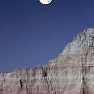 Badlands Moonrise by Christopher  Boswell