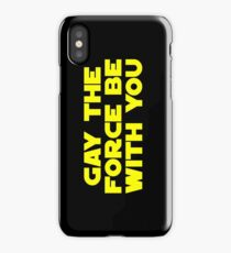 Gay the Force (yellow, bold) iPhone Case