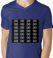 Barbed Wire Black and White Pattern Mens V-Neck T-Shirt