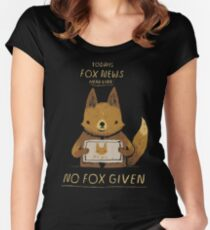 kein Fuchs gegeben Tailliertes Rundhals-Shirt