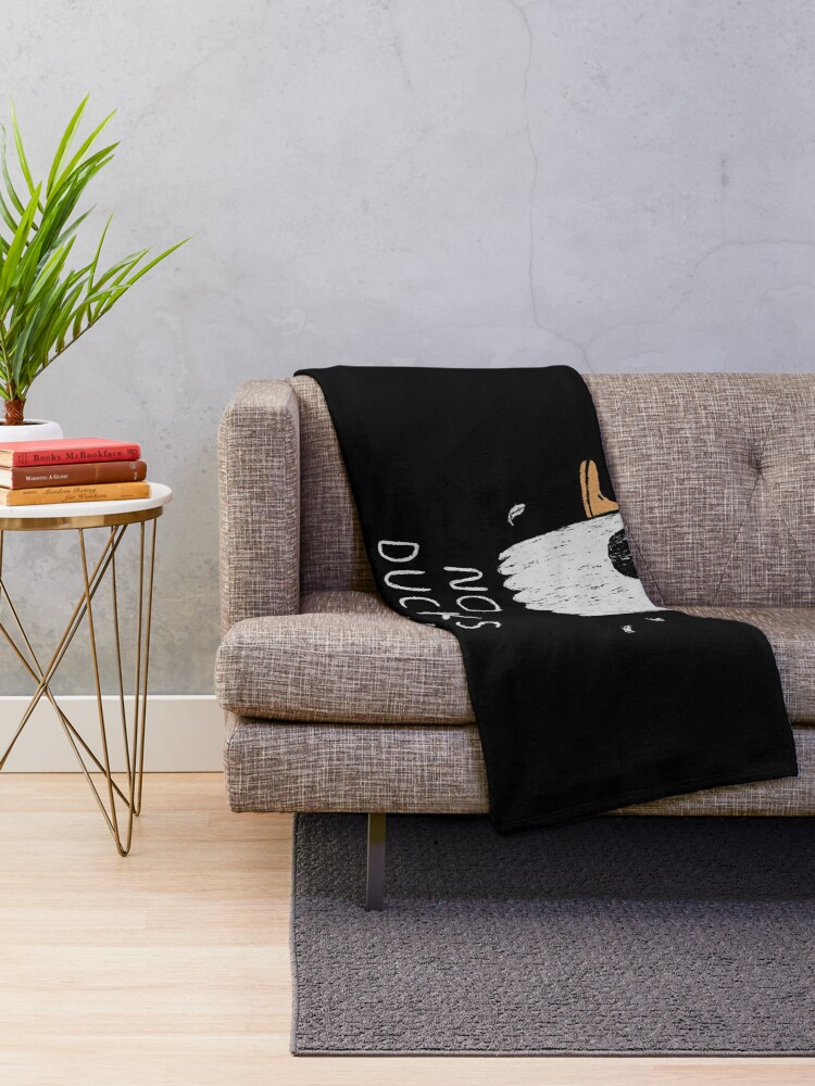 Alternate view of no ducks given Throw Blanket